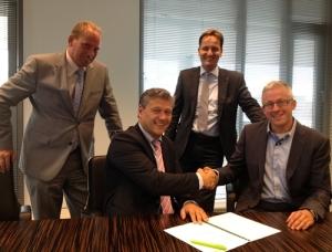 V.l.n.r.: Ronald Evers, Marko Post, Rogier van Dis en Erik Zwaan